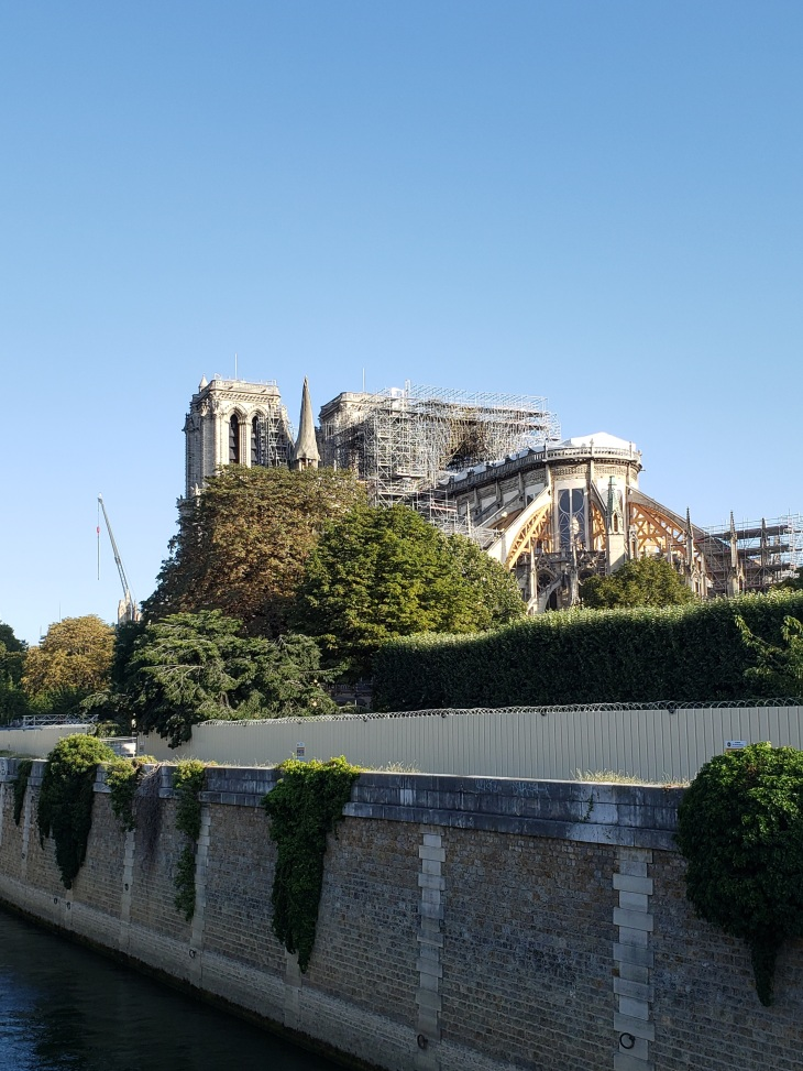 literally just the back of the Notre Dame. Photo taken from the left bank of the river.